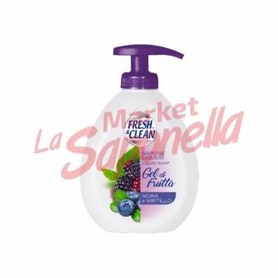 Sapun lichid gel de fructe mure si afine Fresh&Clean – 300 ml